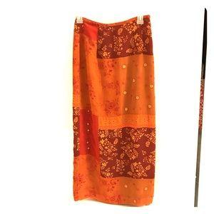 Excellent condition tan/orange maxi skirt 2